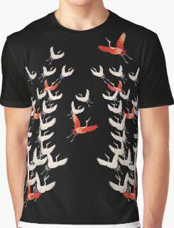 Flying crane kimono motif / design Graphic T-Shirt