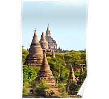 Temples aplenty – Bagan, Myanmar Poster