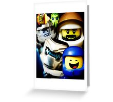 Lego Space has advanced over the years! Greeting Card
