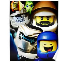 Lego Space has advanced over the years! Poster