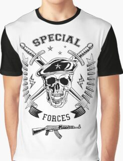 Special forces monochrome emblem Graphic T-Shirt
