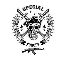 Special forces monochrome emblem Photographic Print