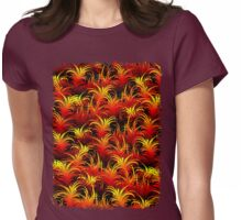 Fire Feather Pattern Texture Womens Fitted T-Shirt
