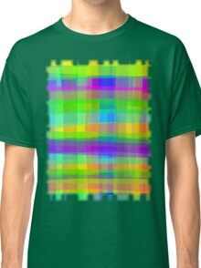 Psychedelic Fabric Texture Pattern Classic T-Shirt