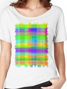 Psychedelic Fabric Texture Pattern Women's Relaxed Fit T-Shirt