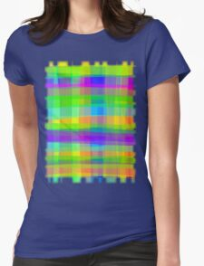 Psychedelic Fabric Texture Pattern Womens Fitted T-Shirt