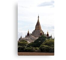 Hallowed earth: a stunning temple in Bagan, Myanmar Canvas Print