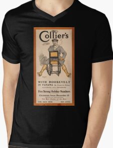 Artist Posters Collier's with Roosevelt in Panama by Frederick Palmer illustrated with photographs 0949 Mens V-Neck T-Shirt