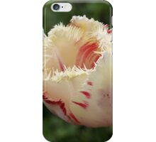 white and pink Tulip needle  iPhone Case/Skin