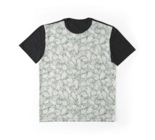 Sleepy House Animal Pattern - green and silver Graphic T-Shirt
