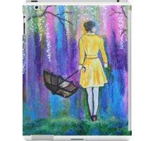 Spring Walk Abstract Landscape colorful vibrant iPad Case/Skin