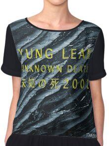 YUNG LEAN // SADBOYS // UNKNOWN DEATH 2002 TSHIRT (Highest Resolution on Site) Chiffon Top