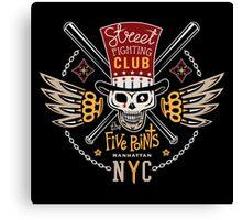 Street fight emblem Five Points Canvas Print