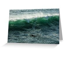Emerald California Surfing - La Jolla, San Diego, California Greeting Card