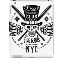 Street fight monochrome emblem Five Points iPad Case/Skin