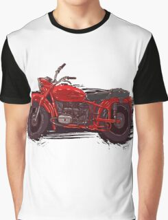 red vintage motorcycle Graphic T-Shirt