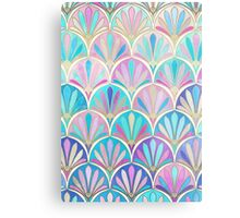 Glamorous Twenties Art Deco Pastel Pattern Metal Print