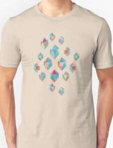 Floating Gems - a pattern of painted polygonal shapes Unisex T-Shirt