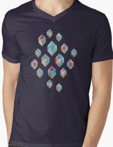 Floating Gems - a pattern of painted polygonal shapes Mens V-Neck T-Shirt