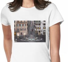 Via Condotti Waking Up - Rome, Italy Womens Fitted T-Shirt
