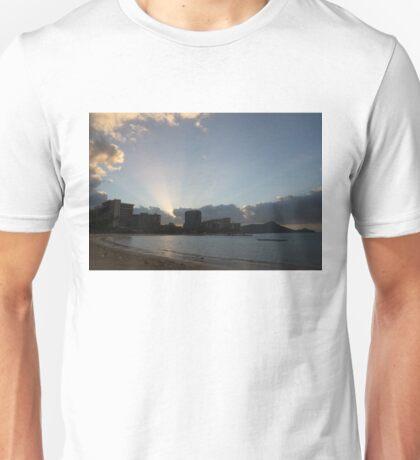 Early Birds, Famous Beach and Sun Rays - Waikiki, Honolulu, Hawaii Unisex T-Shirt