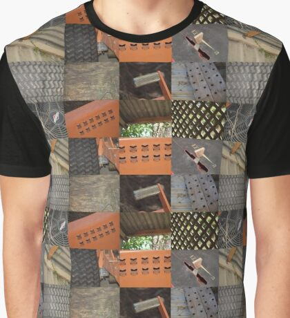 Country Collage Graphic T-Shirt