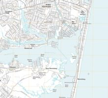 USGS TOPO Map New Jersey NJ Point Pleasant 20110412 TM Sticker