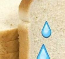 white bread tears Sticker