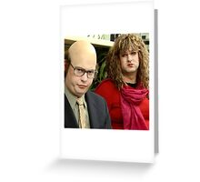 tim and eric show  Greeting Card