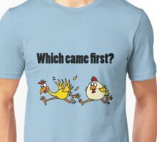 Cool Funny Chicken Racing Egg Unisex T-Shirt
