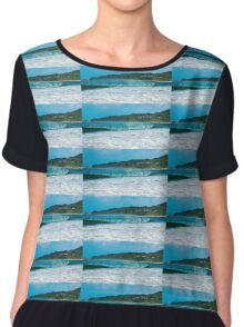 Byron beach with Cape Byron lighthouse Chiffon Top