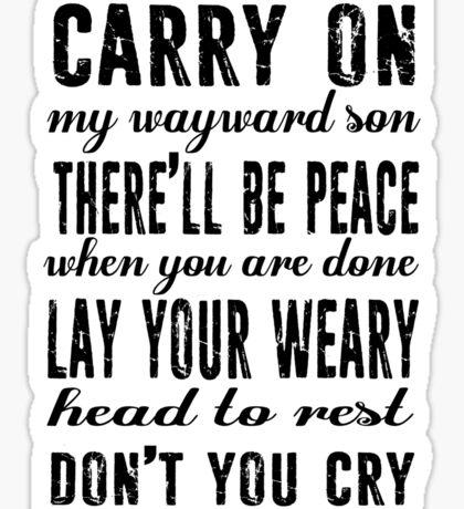 Spn Wayward sons (black version) Sticker