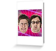 tim and eric show great job design Greeting Card