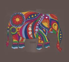 Psychedelic Elephant One Piece - Short Sleeve