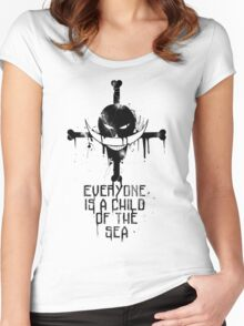 A Child of The Sea - Black Women's Fitted Scoop T-Shirt