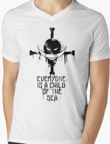 A Child of The Sea - Black Mens V-Neck T-Shirt