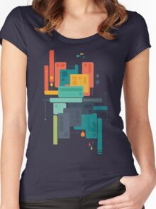 Meet Me At The Bridge Women's Fitted Scoop T-Shirt