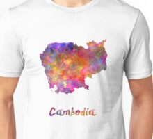 Cambodia in watercolor Unisex T-Shirt