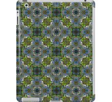 Blue Scarab Pattern in vibrant green, electric blue and violet iPad Case/Skin