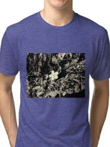 A beautiful flower in black and white Tri-blend T-Shirt