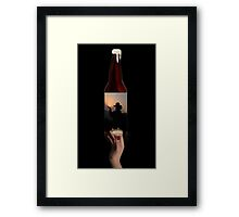POP -A- TOP - AGAIN-I'V JUST GOT TIME FOR ONE MORE ROUND..SET UP MY FRIENDS-THEN I'LL BE GONE-AND U CAN LET SOME OTHER FOOL SIT DOWN. PILLOWS,PICTURE,TOTE BAGS ECT Framed Print