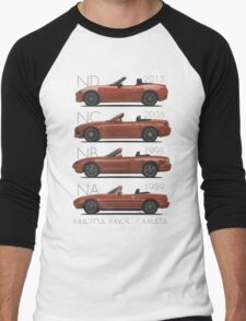 Mazda MX-5 evolution Men's Baseball ¾ T-Shirt