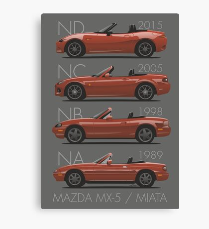 Mazda MX-5 evolution Canvas Print