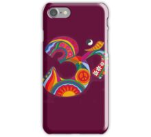 Fat Psychedelic Om iPhone Case/Skin