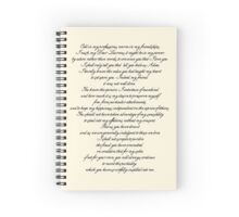 Letter to Laurens Spiral Notebook