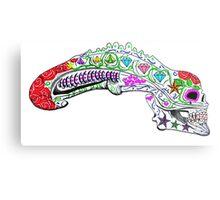 xenomorph sugar skull Metal Print