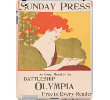 Artist Posters An exact model of the battleship Olympia free to every reader Sunday May 24th 1896 0449 iPad Case/Skin
