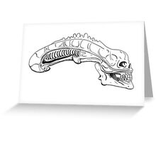 xenomorph skull Greeting Card