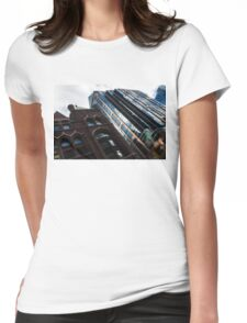Yonge Street - Downtown Toronto Architecture Left Womens Fitted T-Shirt