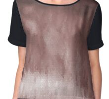 Shades of Brown Stain Glass Chiffon Top
